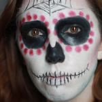 Maquillage spécial Halloween ! Tuto simple de la Mexican Skull…