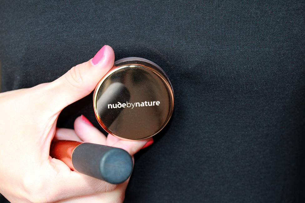 tuto maquillage bio nude by nature poudre