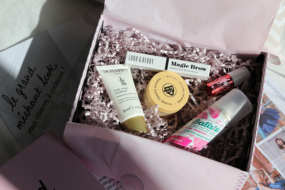 Glossybox octobre 2017 grand méchant look naf naf