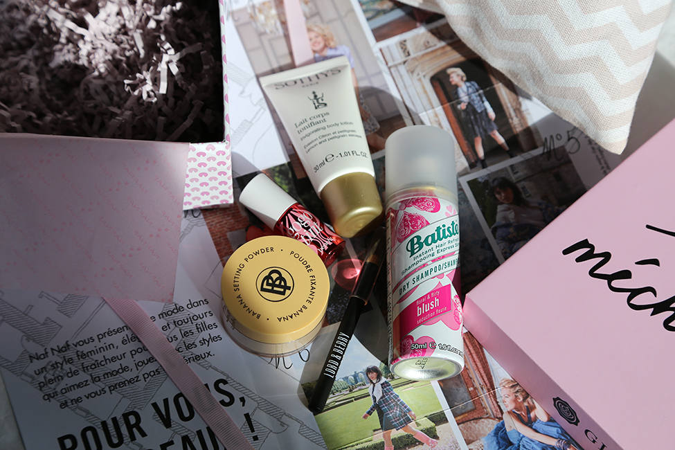 Glossybox octobre 2017 naf naf grand méchant look