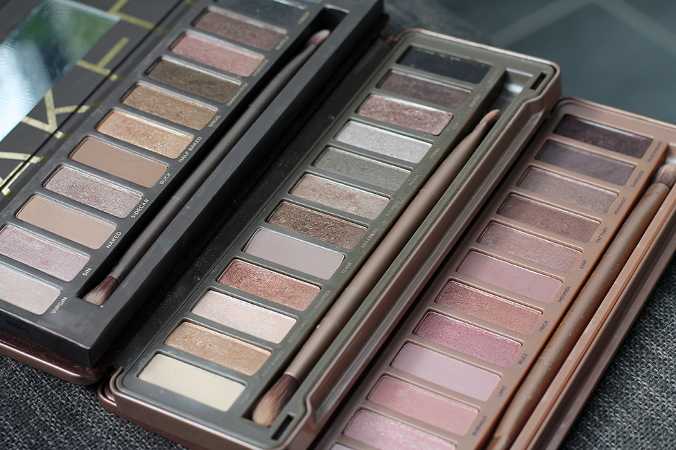 palettes Naked 1 2 3 Urban Decay couleurs